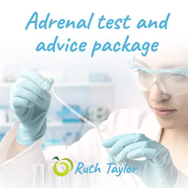 Adrenal test and advice package from qualified nutritionist